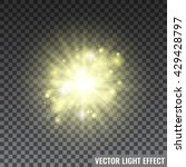 yellow light rays on... | Shutterstock .eps vector #429428797
