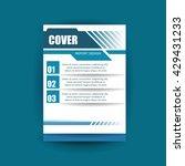 modern cover annual report... | Shutterstock .eps vector #429431233