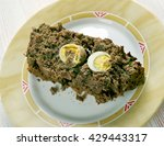 Small photo of Drob - traditional Romanian dish, similar to a haggis, made of minced lamb's offal wrapped in caul and roasted like a meatloaf