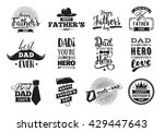happy fathers day set. vector... | Shutterstock .eps vector #429447643