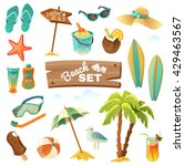 a set of sixteen icons of the... | Shutterstock .eps vector #429463567