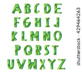 green eco alphabet. latin... | Shutterstock .eps vector #429464263