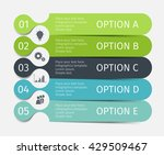 modern infographic lines set.... | Shutterstock .eps vector #429509467