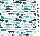 seamless marine pattern.... | Shutterstock .eps vector #429529123