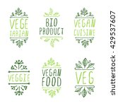 vegan product labels. suitable... | Shutterstock .eps vector #429537607