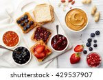 sandwiches with peanut butter ... | Shutterstock . vector #429537907