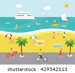 Outdoor Scene On Beach With...