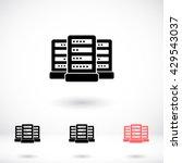computer server icon | Shutterstock .eps vector #429543037