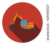 icon of construction bulldozer. ...