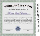 best mother award template.
