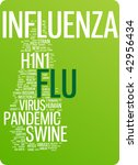 flu word cloud illustration.... | Shutterstock .eps vector #42956434