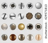bolts and screws big set ... | Shutterstock . vector #429571813