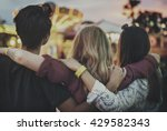 friends huddle happiness... | Shutterstock . vector #429582343