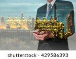 double exposure of businessman... | Shutterstock . vector #429586393