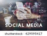 social media devices... | Shutterstock . vector #429595417