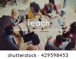 teach teaching education... | Shutterstock . vector #429598453