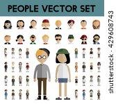 diversity community people flat ... | Shutterstock .eps vector #429608743