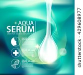 aqua skin collagen serum and... | Shutterstock .eps vector #429608977