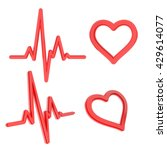 heart and heartbeat symbols for ... | Shutterstock . vector #429614077