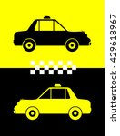 taxi icon symbol vector... | Shutterstock .eps vector #429618967