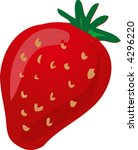 sketch of a strawberry.hand...   Shutterstock .eps vector #4296220