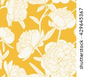 seamless floral pattern with... | Shutterstock .eps vector #429645367