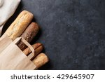 mixed breads on stone table....   Shutterstock . vector #429645907