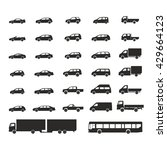 car icons big set vector... | Shutterstock .eps vector #429664123