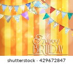 orange background with bunting  ... | Shutterstock .eps vector #429672847
