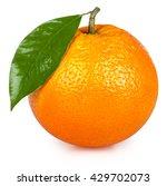ripe orange isolated on white... | Shutterstock . vector #429702073