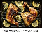 grilled chicken with rosemary...   Shutterstock . vector #429704833