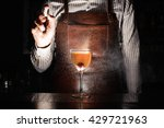 expert barman is spraying on... | Shutterstock . vector #429721963