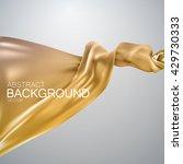 golden silk fabric. vector... | Shutterstock .eps vector #429730333