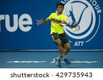 Small photo of HUA HIN, THAILAND-MAY 31:Aditya Hari Sasongka of Indonedia returns a ball during Day 2 of B.Grimm ATT Thailand M1 on May 31, 2016 at True Arena Hua Hin in Hua Hin, Thailand