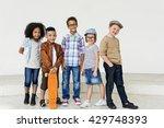 child friends elementary age... | Shutterstock . vector #429748393