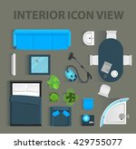 set top view for interior icon... | Shutterstock .eps vector #429755077