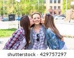 teen girls enjoy friendship.... | Shutterstock . vector #429757297