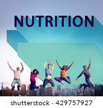 nutrition nutrient nutritional  ... | Shutterstock . vector #429757927