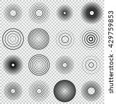 radar screen concentric circle... | Shutterstock .eps vector #429759853