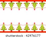 christmas seamless border with... | Shutterstock . vector #42976177