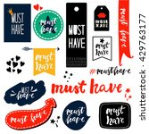 collection of tags and stickers.... | Shutterstock .eps vector #429763177