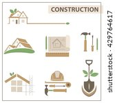 vector set with construction... | Shutterstock .eps vector #429764617