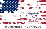 usa flag. blots white. caption... | Shutterstock .eps vector #429775303