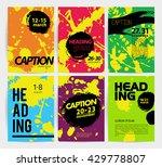 collection of vector creative... | Shutterstock .eps vector #429778807