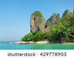 view of railay beach in krabi  ... | Shutterstock . vector #429778903