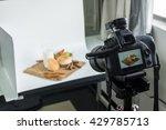 dslr camera to shooting bread... | Shutterstock . vector #429785713
