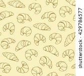 seamless beige croissant... | Shutterstock .eps vector #429786577