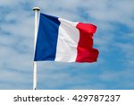 france flag on the mast and... | Shutterstock . vector #429787237