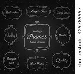 set of hand drawn vintage... | Shutterstock .eps vector #429789997