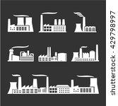 industrial buildings  nuclear... | Shutterstock .eps vector #429798997